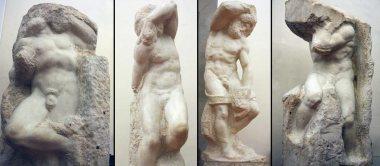 michelangelos four slaves